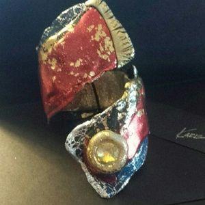 Wrap Bracelet with Large Swarovski Crystal